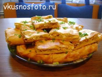 Пирог с рыбой и картошкой