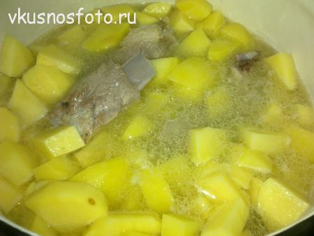 картошка с солеными огурцами