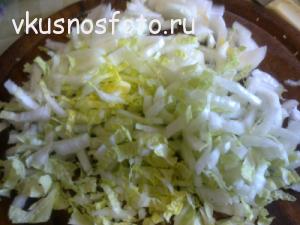 вкусный салат из пекинской капусты