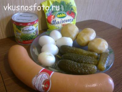 рецепт салата оливье с колбасой