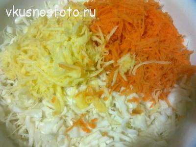 салат капуста морковь яблоко
