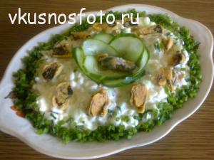 салат из мидий рецепт