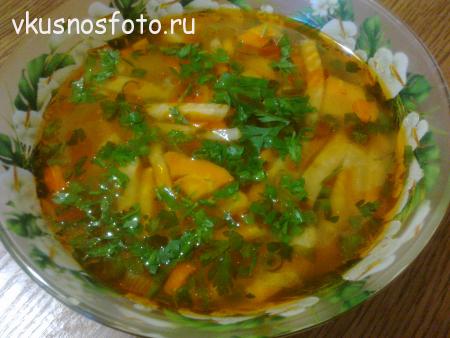 постный  суп из сельдерея