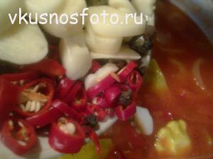 патиссоны в томате