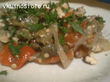салат из баклажанов с фото