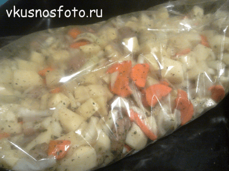 картошка запечённая в рукаве