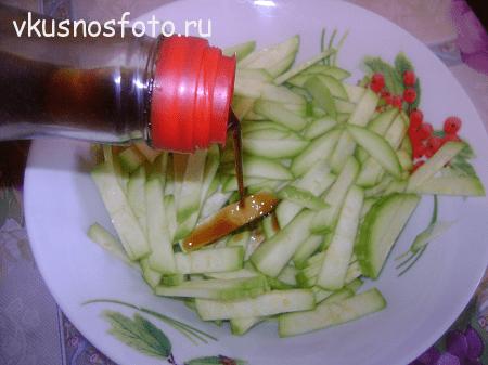Салат из кабачков.