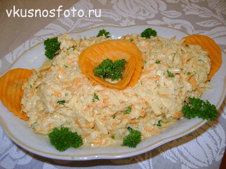 Салат из дайкона с морковью