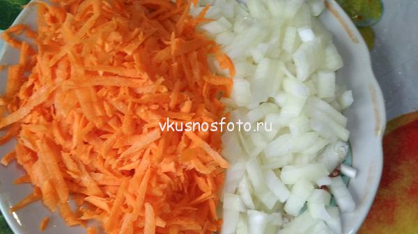 лук и морковь