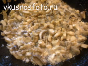 тушёная капуста с грибами