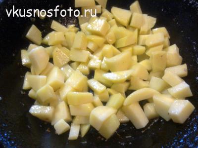тушеная капуста с мясом с картошкой