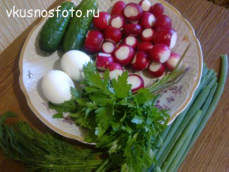 салат из редиски и огурцов ингредиенты
