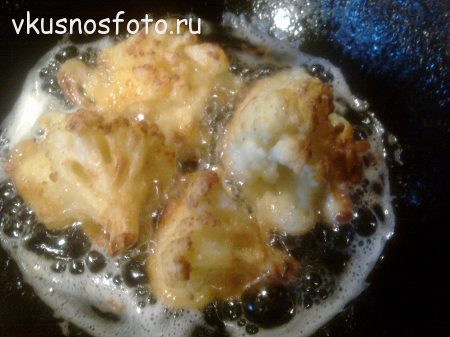 приготовление цветной капусты в кляре