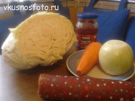 kapusta-tushenaya-s-kolbasoy