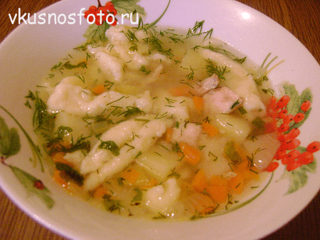 суп с клецками рецепт с фото