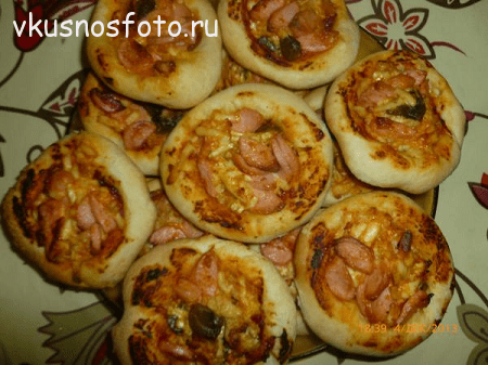 домашняя мини пицца рецепт с фото