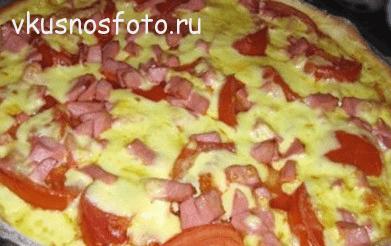 Домашняя пицца из готового  теста