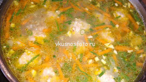 суп гречневый с фрикадельками