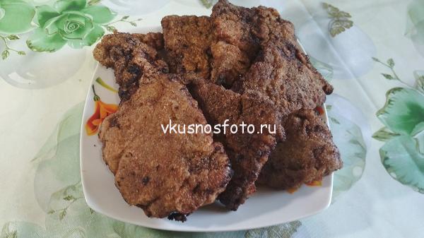 Отбивные из печени говяжьей рецепт