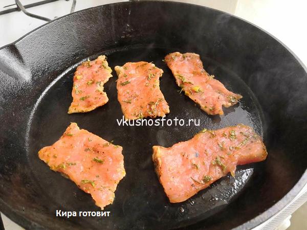 Свиные отбивные на сковороде рецепт с фото