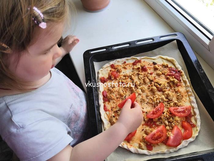 Пицца с фаршем рецепт с фото