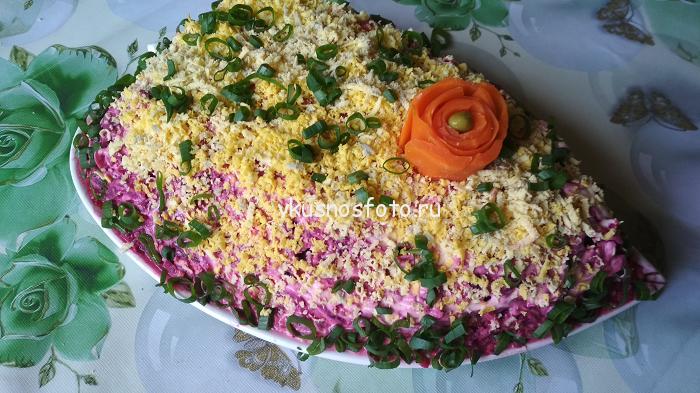 селёдка под шубой с яйцом пошаговый фото рецепт