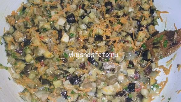 Закуска из баклажанов на зиму простой рецепт